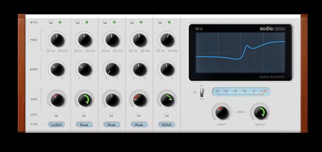 Audiocation Freeware VST Equalizer