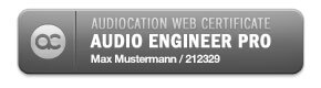Webcertificate bei Audication