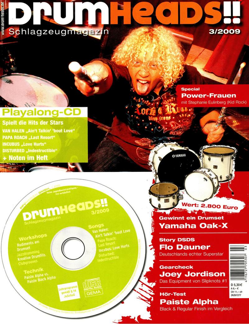 Drumheads über Audiocation 03/2009